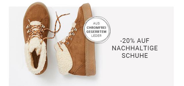 -20% Rabatt* auf nachhaltige Schuhe